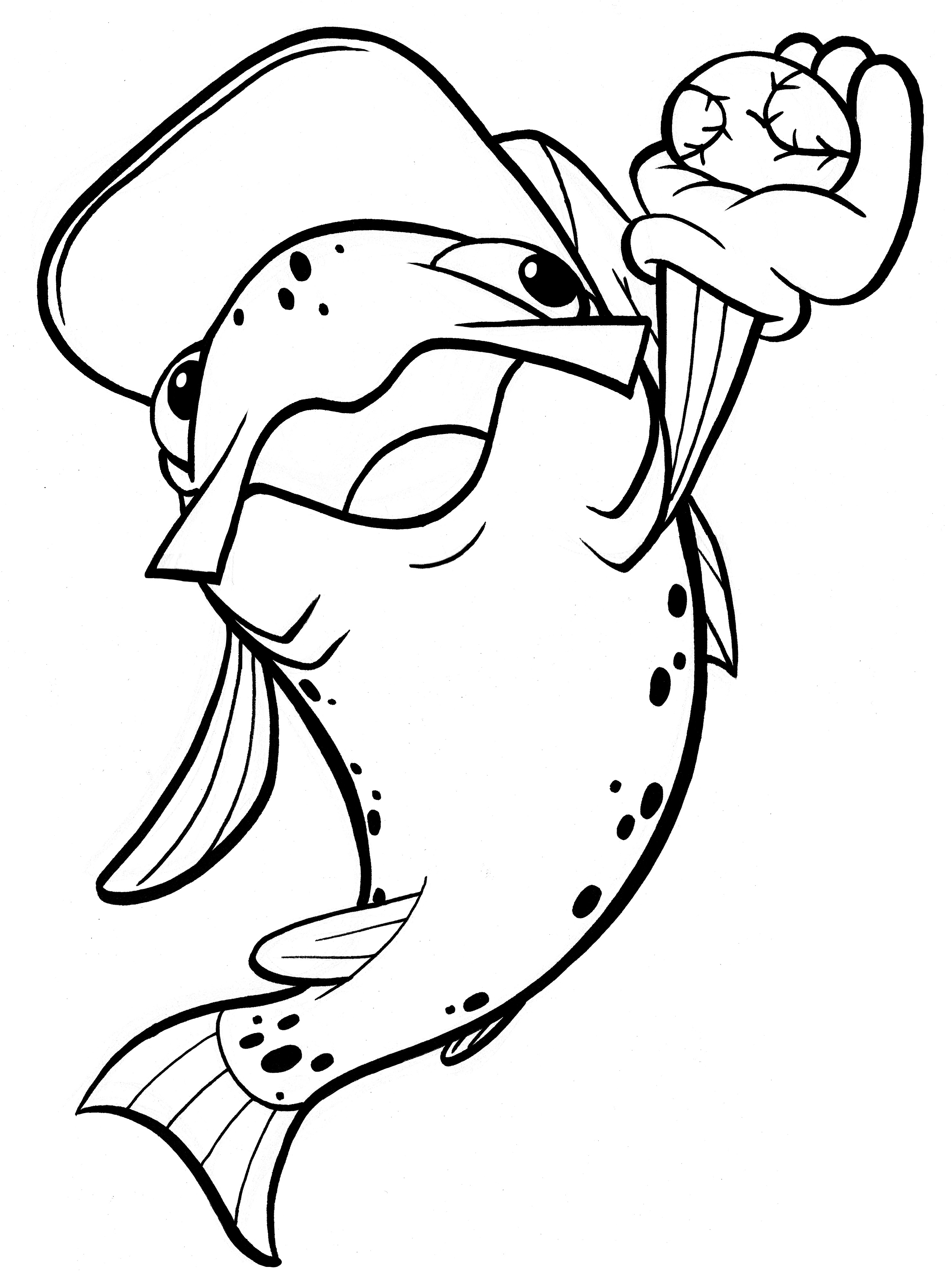 catching viper fish coloring pages - photo#24